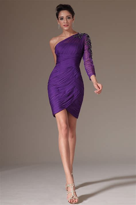 purple cocktail purple cocktail dress with sleeves www imgkid com the