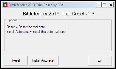 reset bitdefender settings bitdefender 2013 all products trial resetter working