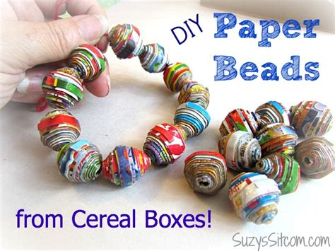 How To Make Bracelets Out Of Paper - paper with cereal boxes