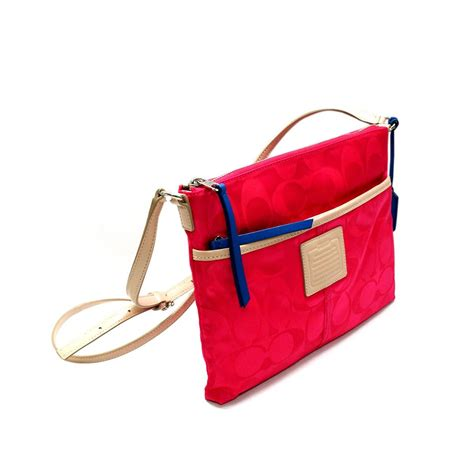 swing bag coach legacy weekend colorblock signature nylon hippie