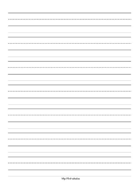 free 5 a4 kindergarten lined paper template word pdf doc social ebuzz