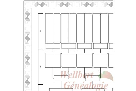 printable 9 generation family tree family tree template 9 generations printable empty to fill