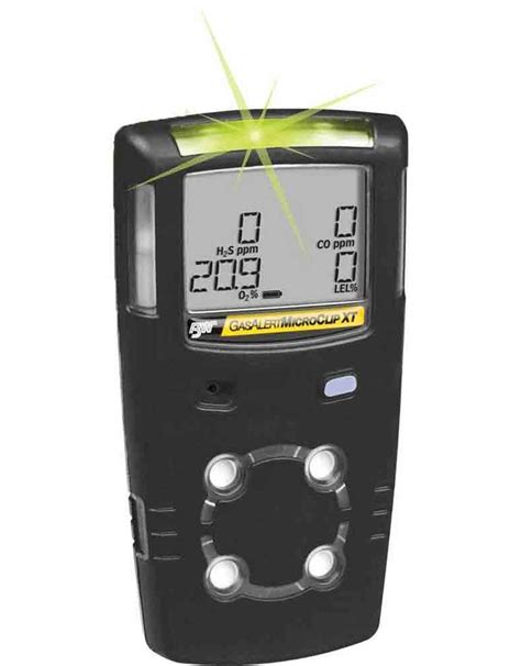 Gas Detector Micro 4 gas detector gasalert microclip by honeywell 3 year