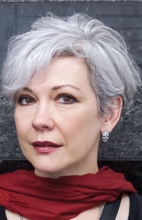 funky hair color for artsy older women 25 best ideas about short gray hair on pinterest grey