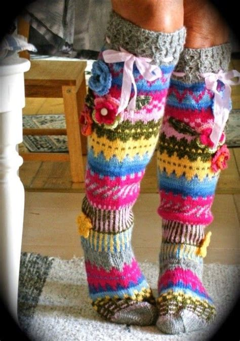 pattern flower socks knitted knee high socks pattern check out all the ideas