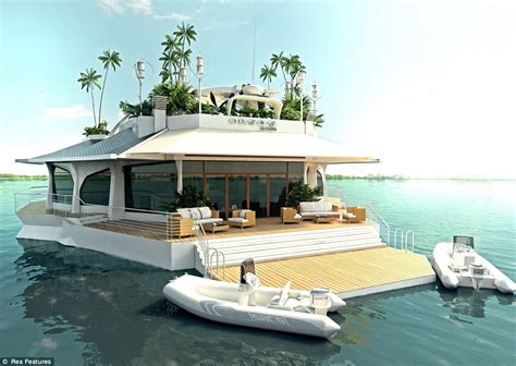 boat a home land ahoy floating island offers the billionaire yacht lifestyle for