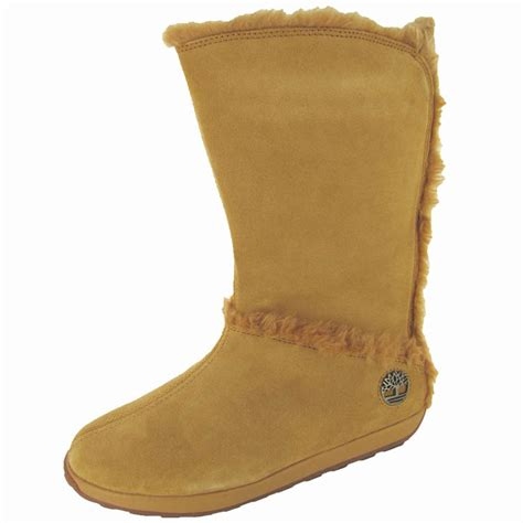 timberland boots with fur timberland womens mukluk pull on fur boot shoe ebay
