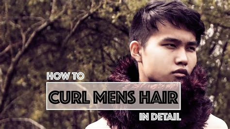men with red fingernails and curlers in hair men s how to curl your hair in detail eng japanese