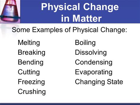 exle of physical change how are physical and chemical properties different ppt