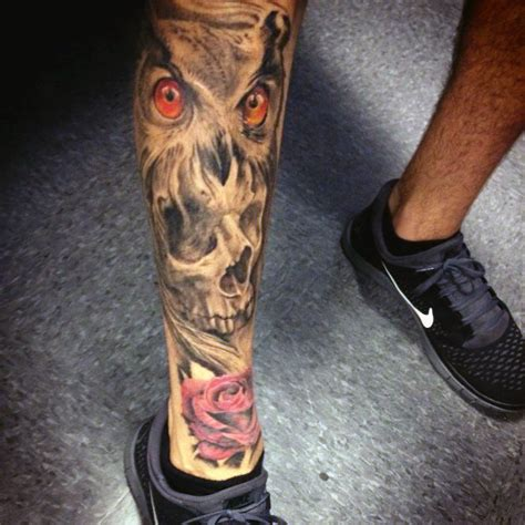 skull leg tattoo top 75 best leg tattoos for sleeve ideas and designs