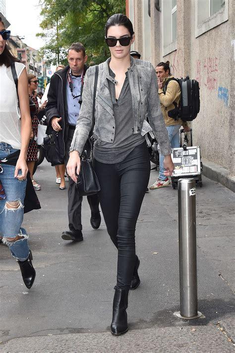 kendall jenner fashion week 2014 kendall jenner in tights at milan fashion week 2014 03
