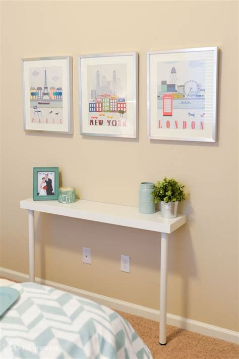 ikea hack console table guest room makeover for 200 everything is awesome