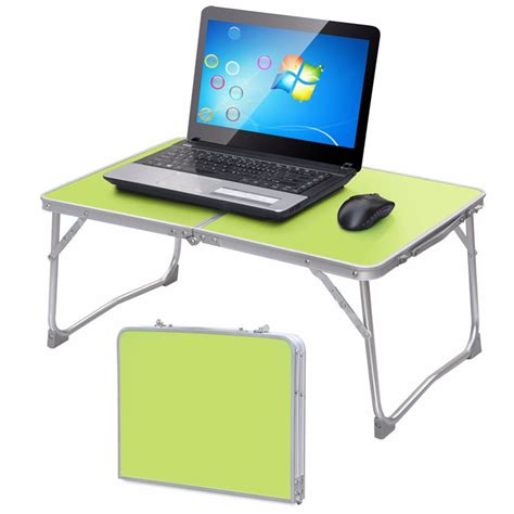 Portable Laptop Desk Stand Portable Lapdesks Folding Laptop Table Stand Holder Bed Sofa Tray Computer Desk 360 Rolling