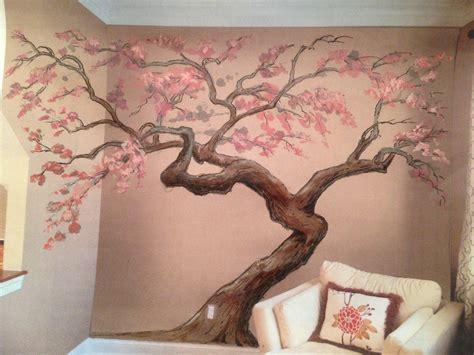 sakura flower mural wall painting youtube 2018 latest painted trees wall art wall art ideas
