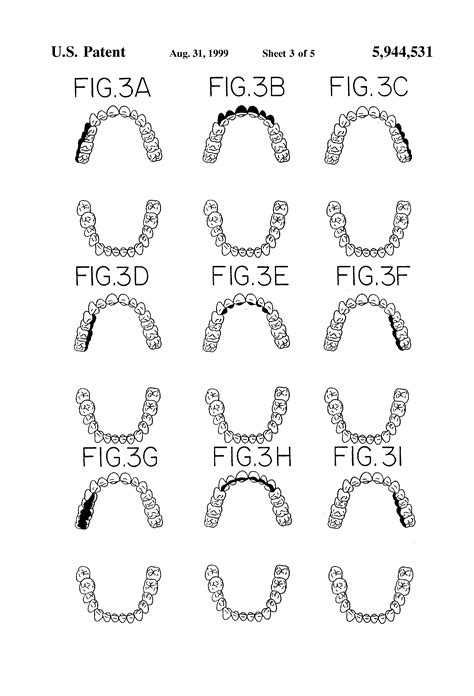 sextant teeth patent us5944531 oral hygiene instructional display