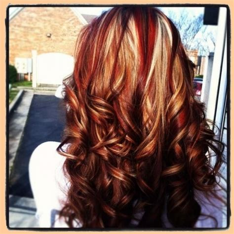 light brown hair with red highlights brown hair red lowlights brown hairs