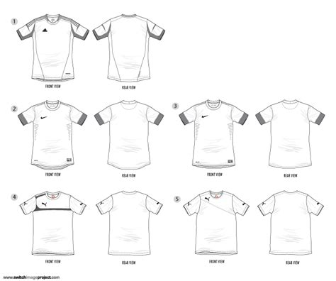Adidas Football Shirt Templates