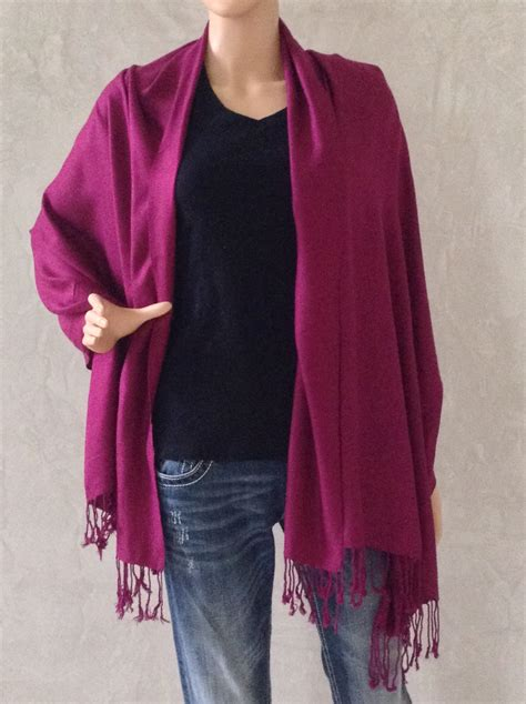 wine colored wine colored scarf with fringe