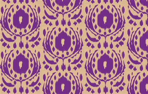 Ikat Rambut Flower Ikat Rambut ikat flower purple fabric fable design spoonflower