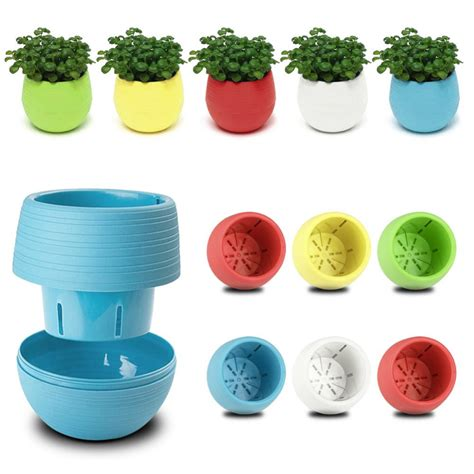 cute flower pots colourful cute round plastic plant flower pot home office
