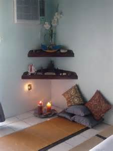 meditation home decor meditation corner on pinterest meditation space