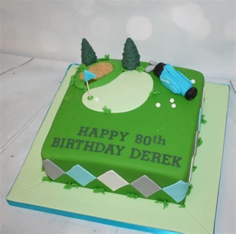 Cake Decoration At Home by Square Golf Themed Cake