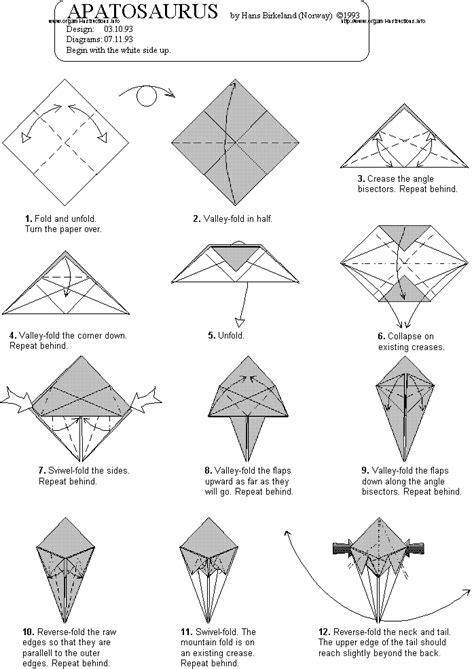 Origami Apatosaurus - origami dinosaur apatosaurus
