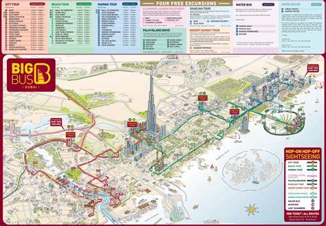 dubai tourist attractions map dubai map  tourist