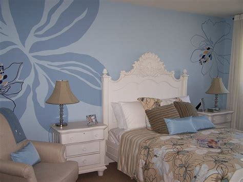 bedroom wall stencils art wall decor cool and beauty with flower bedroom wall