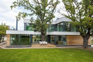 green housing design contemporary house integrating trees in its modern