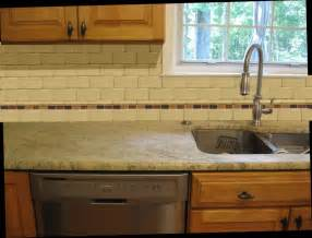 Ideas For Tile Backsplash In Kitchen Kitchen Subway Tile Backsplash Ideas With White Cabinets