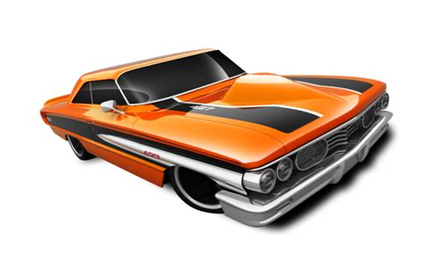 Custom Termurah jual mainan mobil wheels custom 64 galaxie 500 orange black white stripe mania