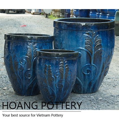 Pottery Planters by Glazed Ceramic Planter From Hoang Pottery