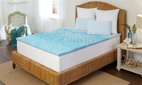 Memory Foam Mattress Cooling Pad by Cooling Memory Foam Mattress Pad Groupon Goods