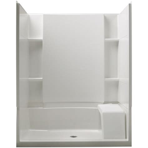 bathtub shower stall sterling accord 36 in x 60 in x 74 1 2 in standard fit