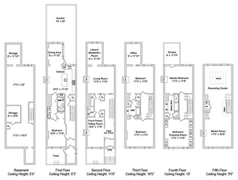 Classic Home Floor Plans Saxophonist David Sanborn Lists Manhattan Townhouse Variety