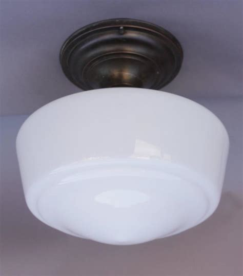 Globe Ceiling Light Fixture 1930s Ceiling Light Fixture With Milk Glass Globe At 1stdibs