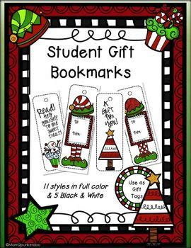 christmas gifts from pto to all students 9 best bookmarks images on book markers livros and marque page