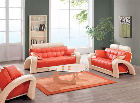 orange living room furniture orange leather couch furniture homesfeed