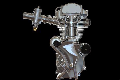 velocette venom thruxton 500cc motorcycle engine stl