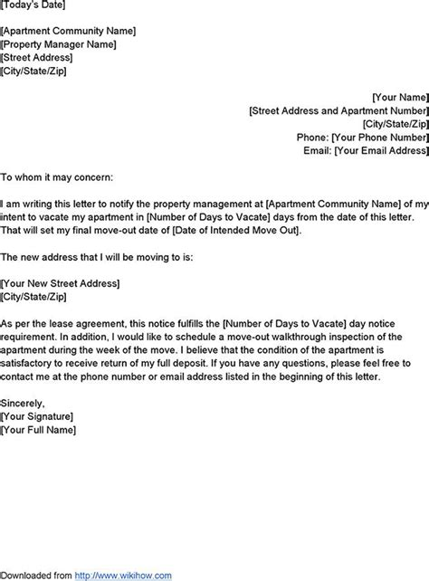 letter of intent to vacate intent to vacate letter template for free tidyform