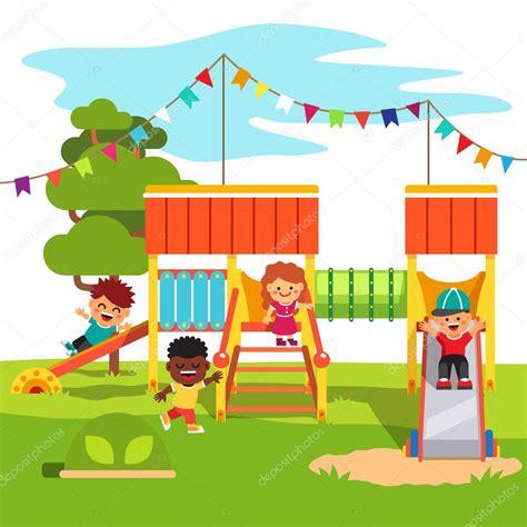 imagenes de jardines de niños animados diapositiva del patio del parque jard 237 n de la infancia con