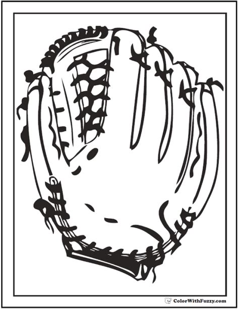 baseball coloring page pdf coloring page baseball glove coloring pages
