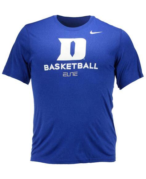 Tshirt Duke Nike Blue lyst nike s duke blue devils practice t shirt in