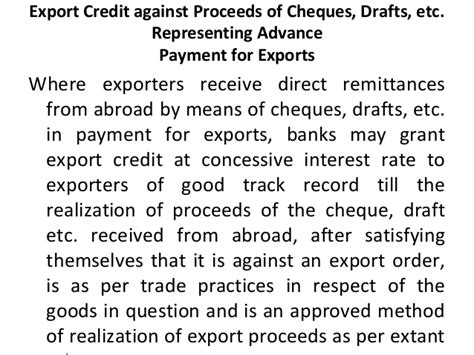 Advance Against Letter Of Credit types of letter of credits on 11 09 2012