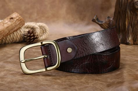 Handmade Mens Leather Belts - handmade brown s leather belt