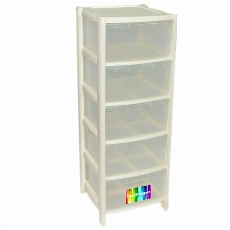 5 Drawer Units Storage 5 Drawer Plastic Large Tower Storage Drawers Unit With