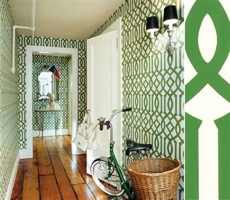 wallpaper design hallway wallpaper imperial trellis by kelly wearstler the style