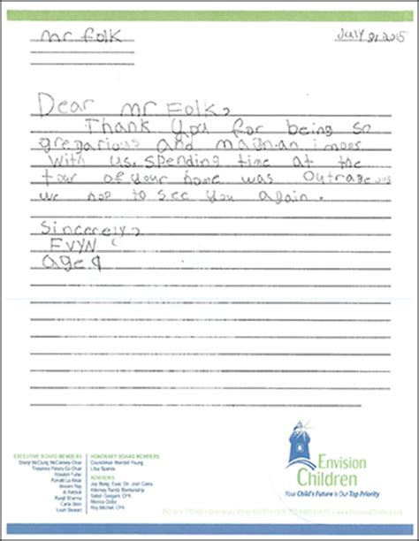 appreciation letter to child s michael folkes letters and quotes of appreciation