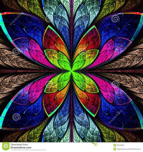 co de fiore fiore multicolore simmetrico di frattale nello stile